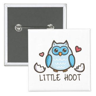 Blue Little Hoot 15 Cm Square Badge