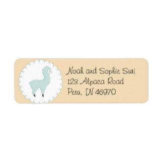 Blue Little Llama Return Address Labels