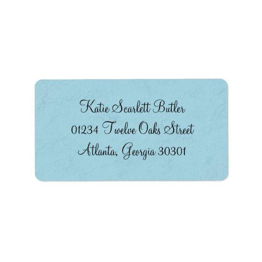 Blue Little Prince Vintage Baby Shower Label