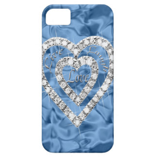Blue Live Laugh Love Heart iPhone 5 Case