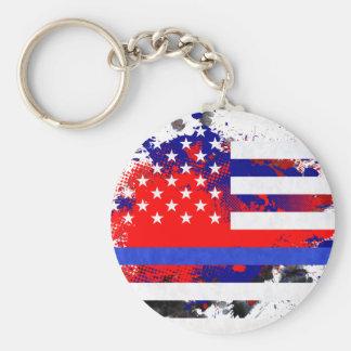 Blue Lives Matter Key Ring