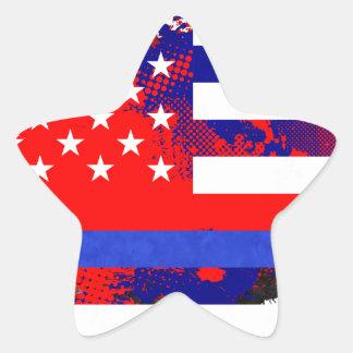 Blue Lives Matter Star Sticker