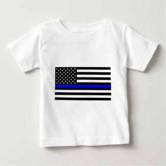 Blue Lives Matter - US Flag Police Thin Blue Line Baby T-Shirt