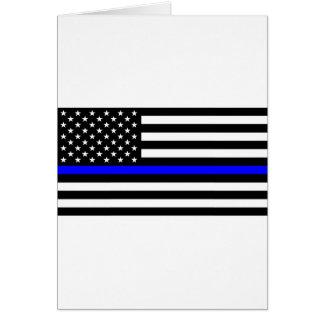 Blue Lives Matter - US Flag Police Thin Blue Line Card