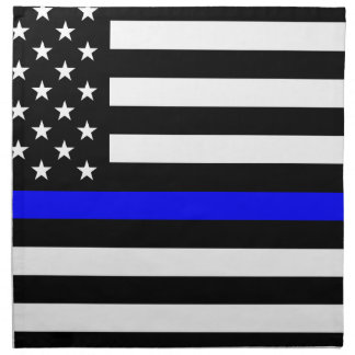 Blue Lives Matter - US Flag Police Thin Blue Line Napkin
