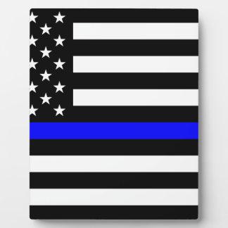 Blue Lives Matter - US Flag Police Thin Blue Line Plaque