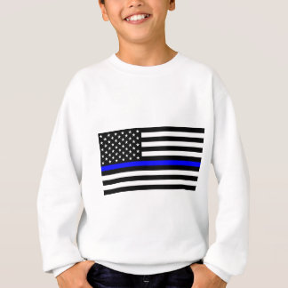 Blue Lives Matter - US Flag Police Thin Blue Line Sweatshirt