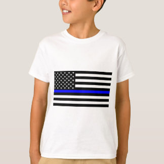 Blue Lives Matter - US Flag Police Thin Blue Line T-Shirt