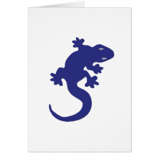 Blue Lizard Card