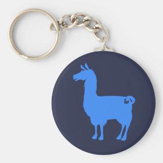 Blue Llama Keychain