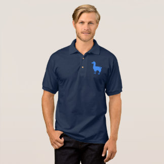 Blue Llama Polo Shirt