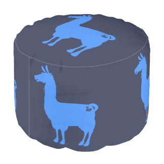 Blue Llama Pouf