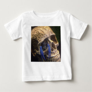 Blue lobster crayfish hanging out in a skull eye baby T-Shirt