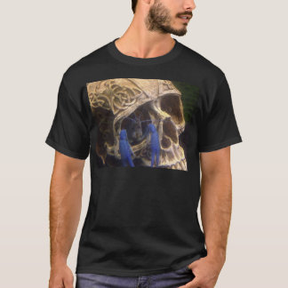 Blue lobster crayfish hanging out in a skull eye T-Shirt