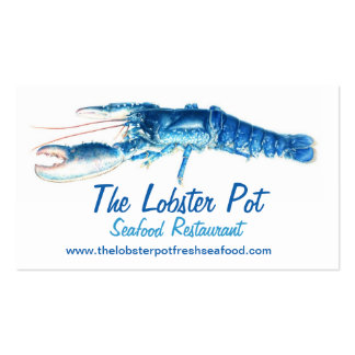 Blue lobster seafood restaurant business card