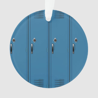 Blue Locker Doors Ornament
