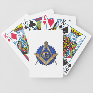 Blue Lodge Mason Bicycle Playing Cards