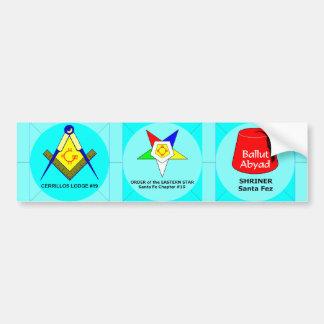 Blue Lodge, OES, Shrine Bumper Sticker