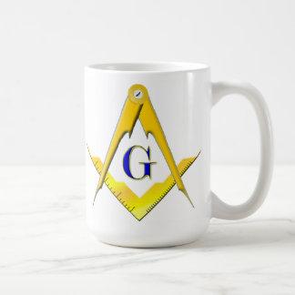 Blue Lodge Square & Compasses Masonic Mug