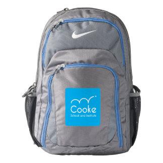 Blue Logo on Gray Nike Backpack