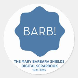 Blue Logo Round Sticker