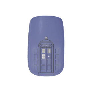 Blue London Police Call Box Nails Sticker