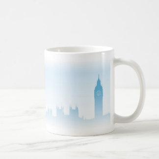 Blue London Skyline Basic White Mug