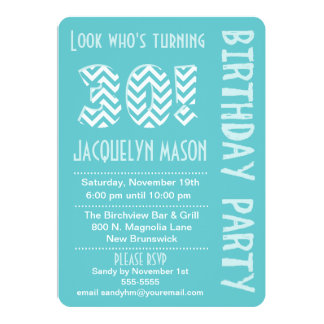 Blue Look Who's Turning 30 Birthday Invitation