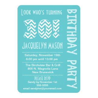 Blue Look Who's Turning 30 Birthday Invitation