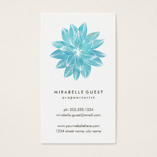 Blue Lotus | Floral Watercolor Business Card