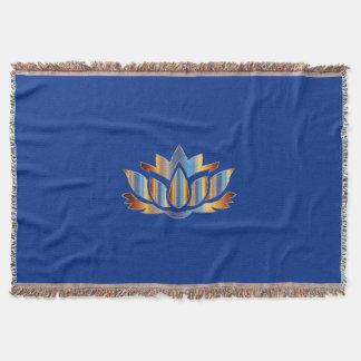 Blue Lotus Flower Blanket
