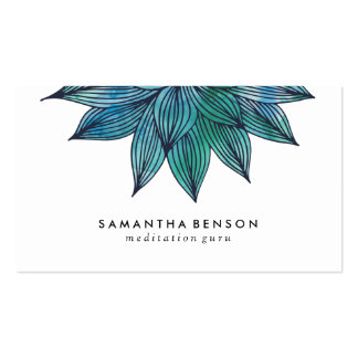 Blue Lotus Flower | Floral Watercolor Pack Of Standard Business Cards