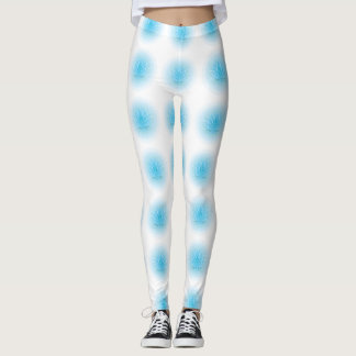 Blue Lotus Flower Leggings Yoga