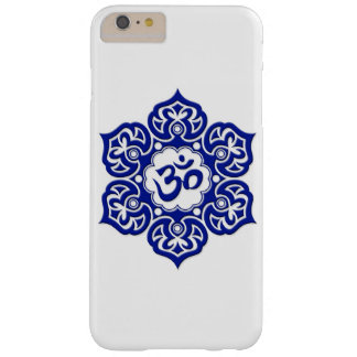 Blue Lotus Flower Om on White Barely There iPhone 6 Plus Case
