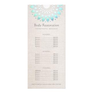 Blue Lotus Health and Wellness Price List Menu Personalised Rack Card