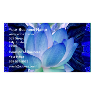 Blue lotus lily pack of standard business cards