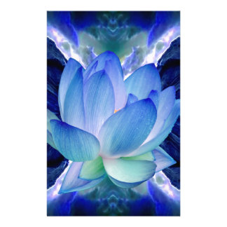 Blue lotus lily stationery