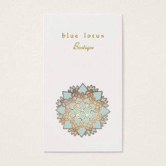 Blue Lotus Logo Holistic Health and Wellness Business Card