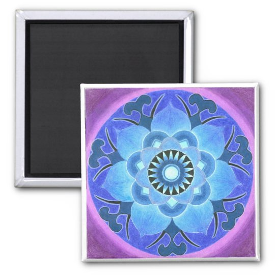Blue Lotus Magnet