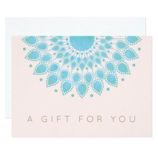 Blue Lotus Mandala  Salon and Spa Gift Certificate Card