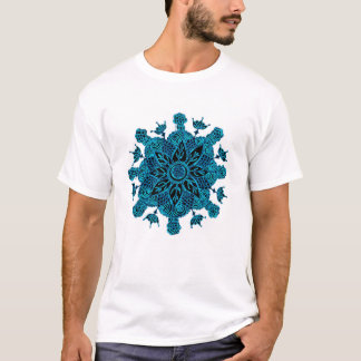 Blue Lotus Mandala T-Shirt