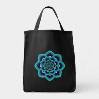 Blue Lotus Mandala Tote Bag