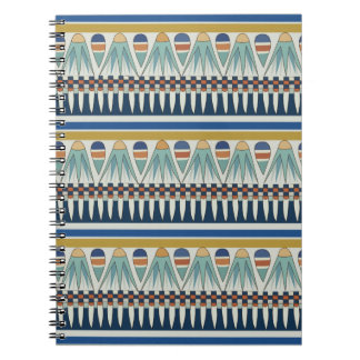 Blue lotus motif of Pairy Spiral Notebook