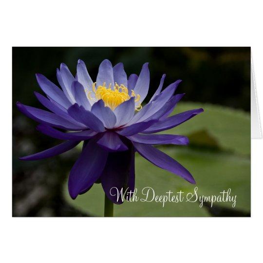 Blue Lotus • Sympathy Card