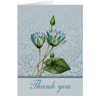 Blue Lotus Thank You Notes Note Card