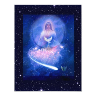 Blue Love 11 Cm X 14 Cm Invitation Card