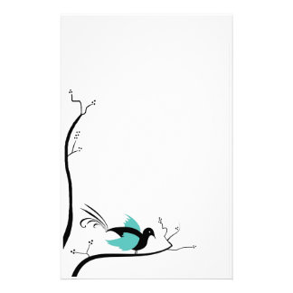 Blue Love Bird stationery