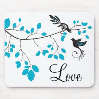 Blue Love Birds Mousepads