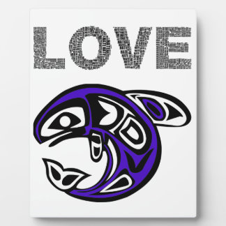 Blue Love fish Plaque