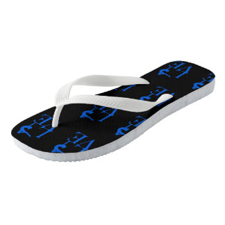 Blue Love Gymnastics Flip Flops